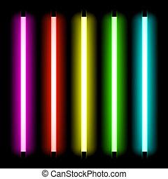 lumière, tube, néon
