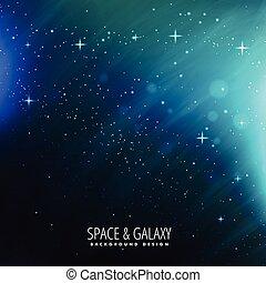 lumières, étoiles, espace