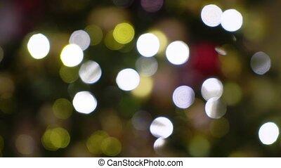 lumières, arbre, noël