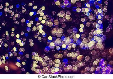 lumières, bokeh, defocused