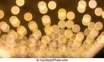 lumières, bokeh, foyer, clignotant, dehors