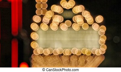 lumières, bokeh, théâtre, foyer, dehors