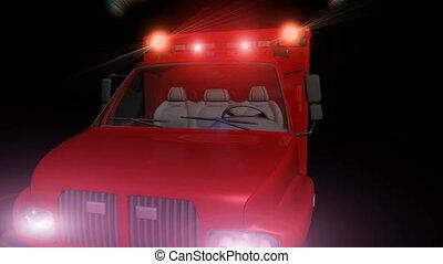 lumières, clignotant, ambulance