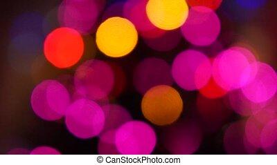 lumières, clignotant, arbre, noël