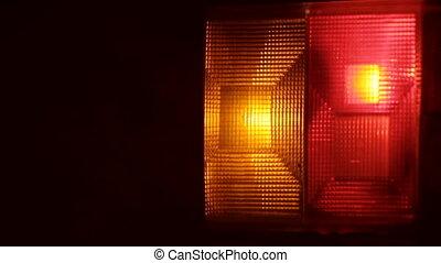 lumières, clignotant, danger, voiture