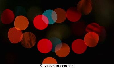 lumières, clignotant, fond