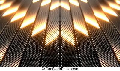 lumières, clignotant, néon