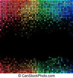 lumières, disco, fond, résumé