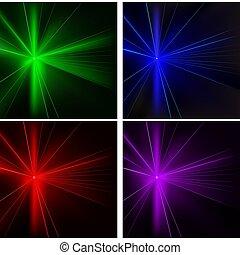 lumières, ensemble, disco