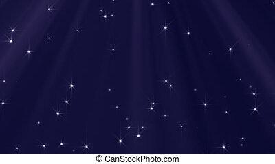 lumières, fait boucle, étoiles, fond