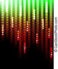lumières, fond, disco