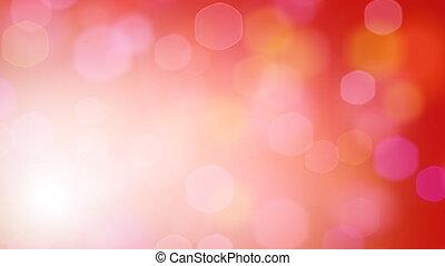 lumières, hexagonal, rouges, boucle