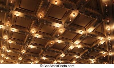 lumières, plafond, salle, concert