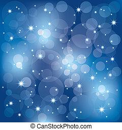 lumières, résumé, étincelant, fond, célébration