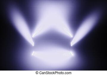lumières, tache, étape vide
