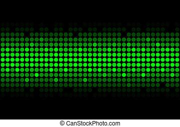 lumières, vert
