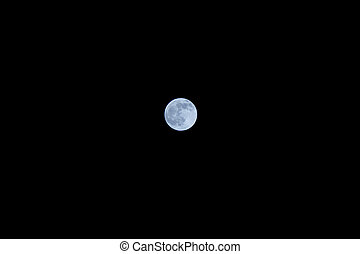 lune, entiers, sur, sombre, ciel nuit