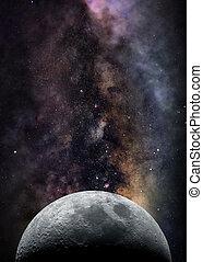 lune, espace