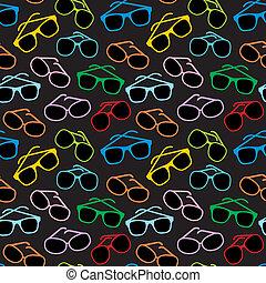 lunettes, accessoires, seamless, soleil