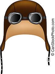lunettes protectrices, chapeau, retro