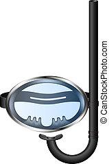 lunettes protectrices, plongée, snorkel, retro