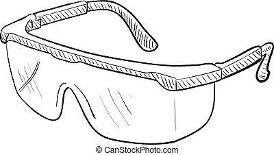 lunettes protectrices, sécurité