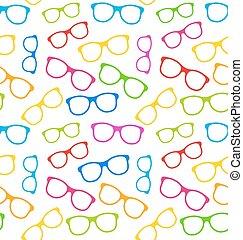 lunettes, seamless, coloré, texture