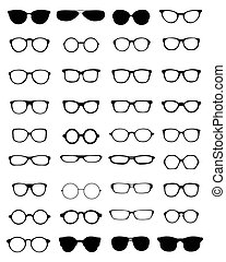 lunettes, silhouettes