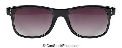 lunettes soleil, couleur, cle, cadre, isolé, contre, lentille, rouge noir