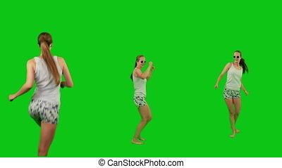 lunettes soleil, girl, été, danse