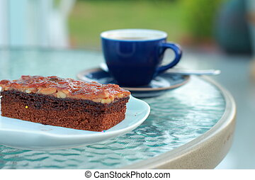 lutin, gâteau café, chaud