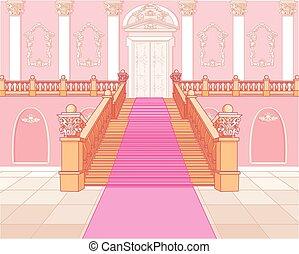 luxe, escalier, palais