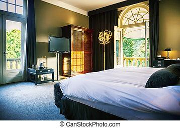 luxe, salle, hôtel
