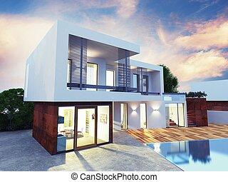 luxe, villa