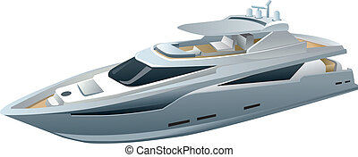 luxe, yacht, vitesse