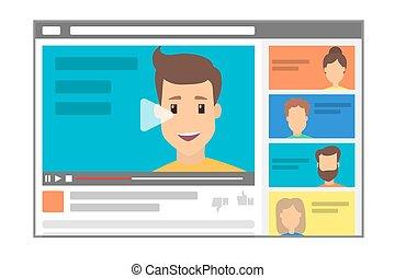 mâle, blogger, canal