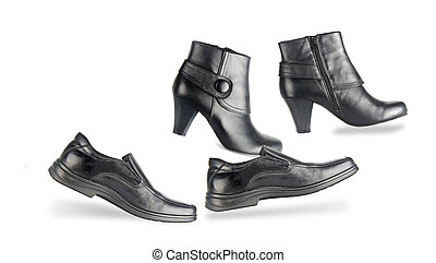 mâle, chaussures, femme
