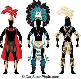mâle, costumes, carnaval