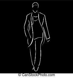 mâle, modèle, exposition, mode
