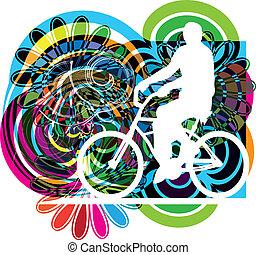 mâle, vélo