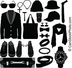 mâle, vêtant accessoires, homme, usure