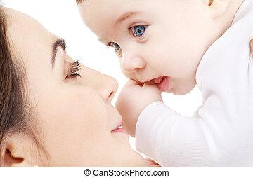 mère, #2, jouer, bébé, heureux, garçon
