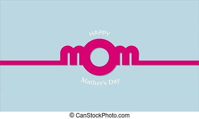 mères, da, maman heureuse