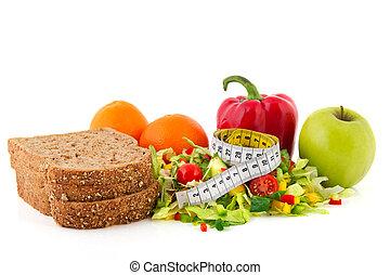 mètre ruban, repas, régime