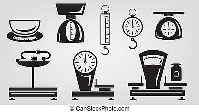 mécanique, balances cuisine