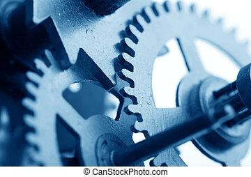 mécanique, engrenage, horloge