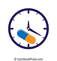 médecine, capsule, prendre, médecine, temps