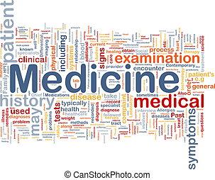 médecine, concept, santé, fond