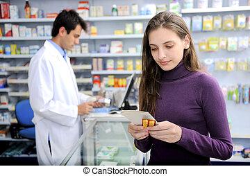 médecine, consommateur, pharmacie