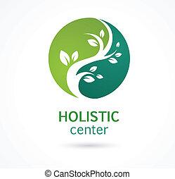 médecine fines herbes, alternative, naturel, icône